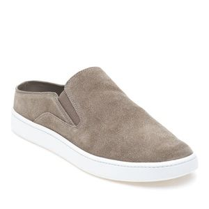 VINCE gray slip on sneakers